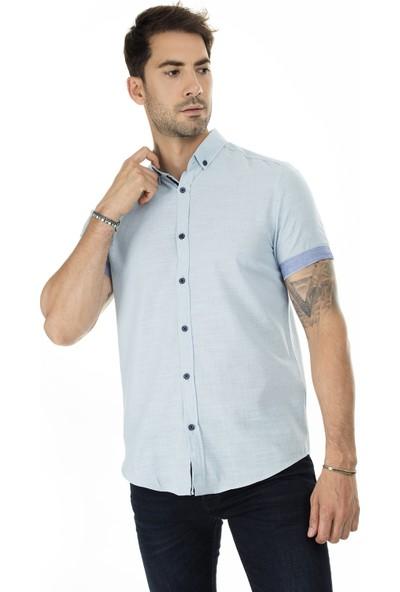 Buratti Düğmeli Yaka Erkek Gömlek CF20S112546