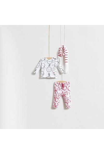 Wogi Baby Fruit Girl Kız Bebek Fularlı Takım