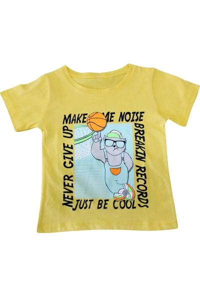 Bebekc Basketbol Baskılı Erkek T-Shirt