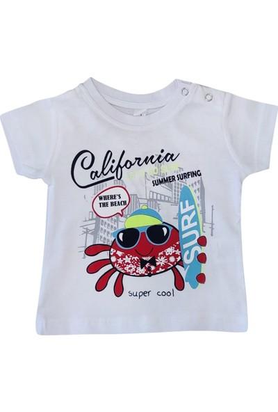 Bebekc California Yengeç Baskılı Erkek T-Shirt