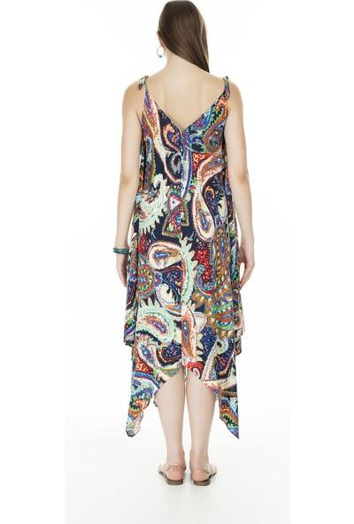 Ayhan V Yaka Kadın Elbise 04661475