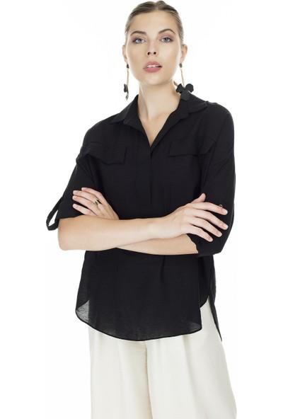 Ayhan V Yaka Kadın Gömlek 04650445