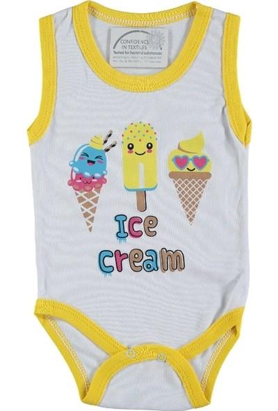 Luxline Dondurma Baskılı Askılı Çıt Çıtlı Body