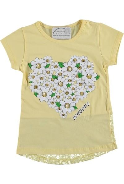 Whoops Papatyalı İncili Kalpli T-Shirt