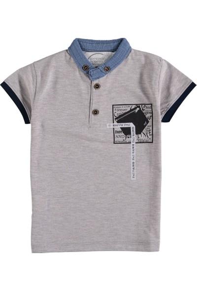 Totno Kids Kot Yakalı Basklılı T-Shirt