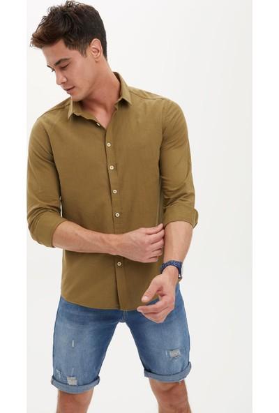 DeFacto Uzun Kollu Basic Slim Fit Pamuklu Gömlek R1680AZ20SP