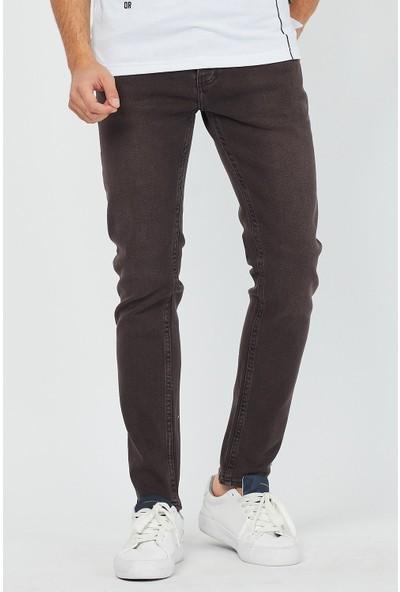 Jean Maker Erkek Kahverengi Super Skinny Jean Pantolon