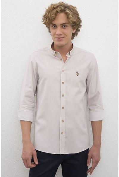 U.S. Polo Assn. Erkek Gömlek Uzunkol Basic 50200422-VR049