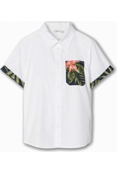 Name İt Erkek Çocuk Floral Desenli Gömlek