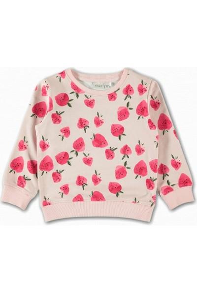 Name İt Kız Çocuk Çilek Baskılı Sweatshirt