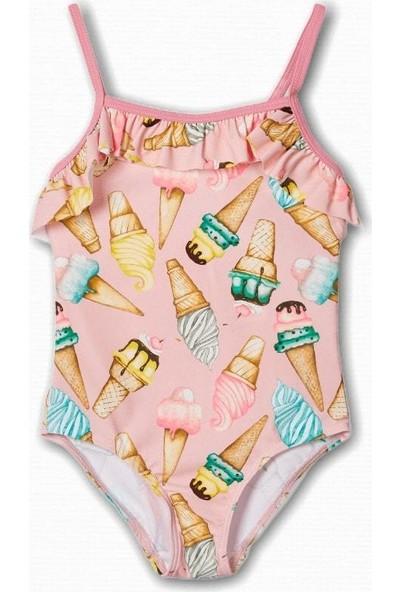 Name İt Kız Çocuk Dondurma Baskılı Mayo