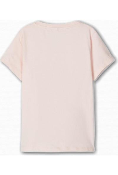 Name İt Kız Çocuk Flamingo Baskılı T-Shirt