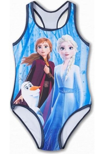 Name İt Kız Çocuk Frozen Elsa Baskılı Mayo