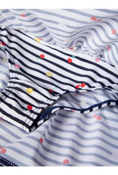 Name İt Kız Çocuk Meyve Baskılı Mayo Elbise