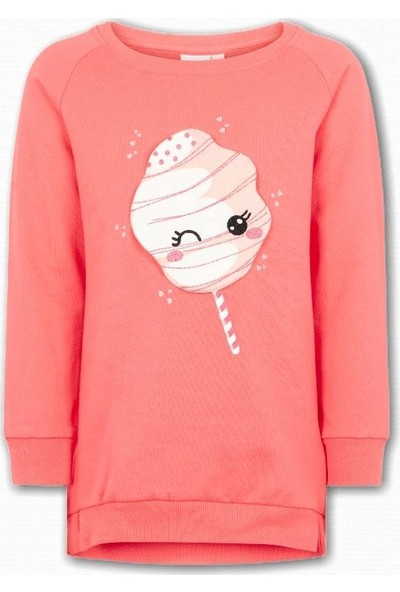 Name İt Kız Çocuk Şeker Baskılı Sweatshirt