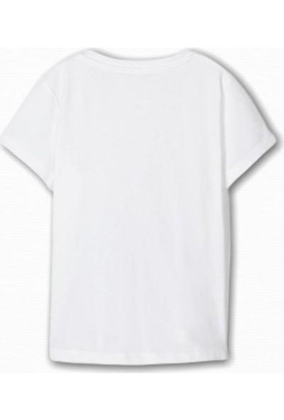 Name İt Kız Çocuk Zebra Baskılı T-Shirt