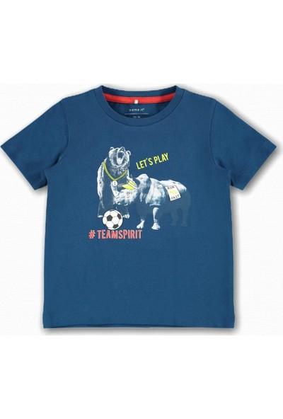Name İt Erkek Çocuk Sporcu Hayvanlar Baskılı T-Shirt