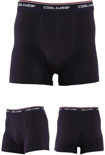 Cool&wear 15701 Erkek Siyah Gri Lacivert Üçlü Boxer