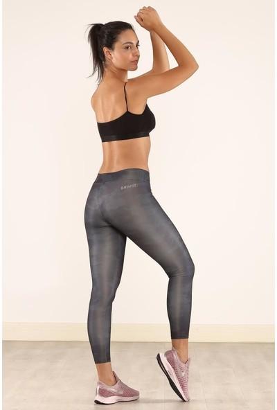 Cool&wear 21610 Dijital Baskı Yüksek Bel Toparlayıcı Spor Tayt