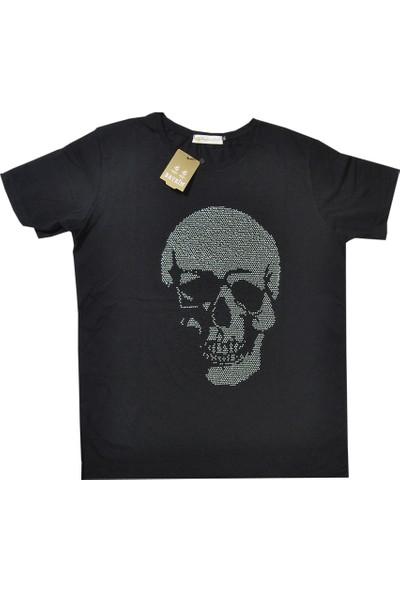 Baykim Siyah Taşlı Rahat Kalıp Tişört