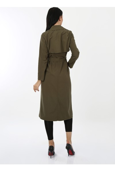 Anitabella Yeşil Trenckot Elbise