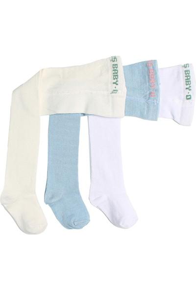 İlbaş Pamuklu Düz Erkek Bebek Külotlu Çorap 3'lü Paket