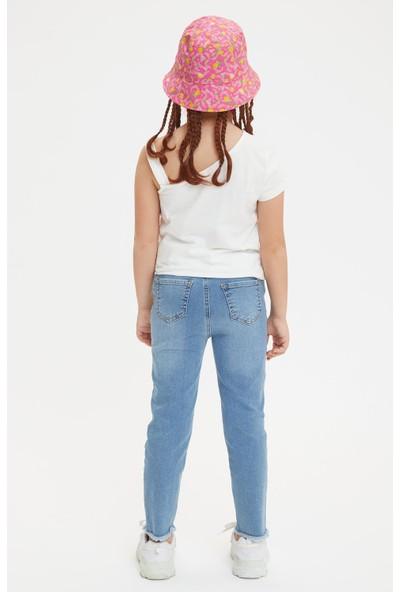 Defacto Kız Çocuk Slim Fit 5 Cep Jean Pantolon