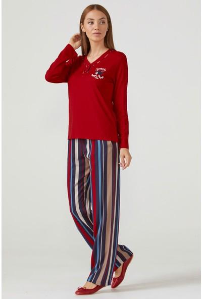 Sementa Kadın Uzun Kol Pijama Takım