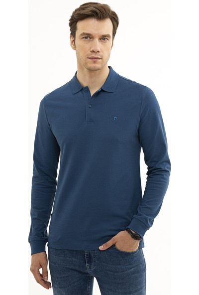 Pierre Cardin Erkek Açık Lacivert Slim Fit Sweatshirt 50226541-VR059