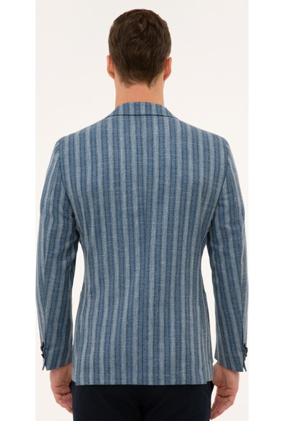 Pierre Cardin Erkek Mavi Ekstra Slim Fit Ceket 50220028-VR036