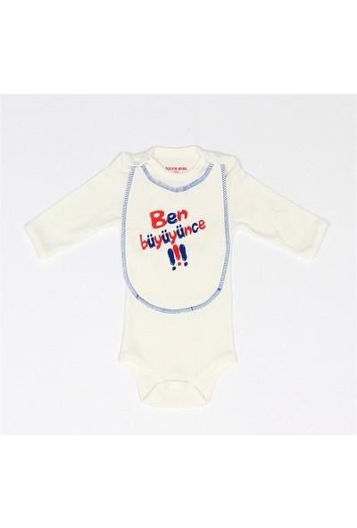 Bebelive Erkek Bebek Önlüklü Çıtçıtlı Body