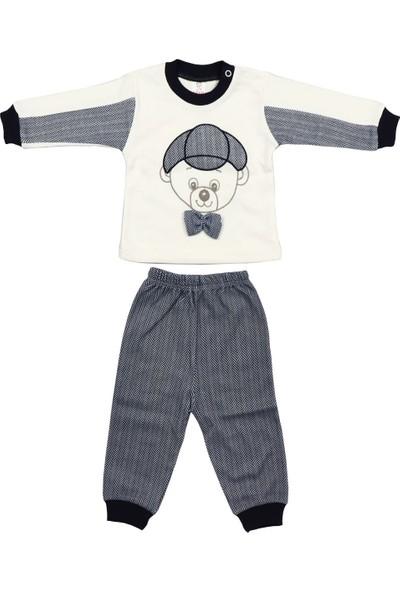 Bebelive Erkek Bebek Papyonlu Ayıcık Lacivert Ikili Takım