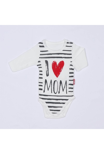 Lulla Baby I Love Mom Uzun Kol Body Zıbın