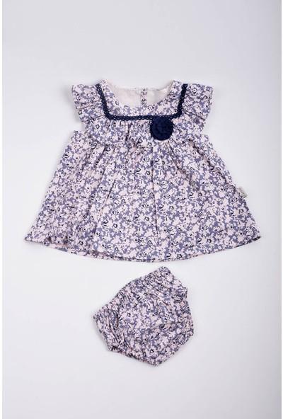 Capps Kız Bebek Çiçek Desenli Elbise Külotlu Takım