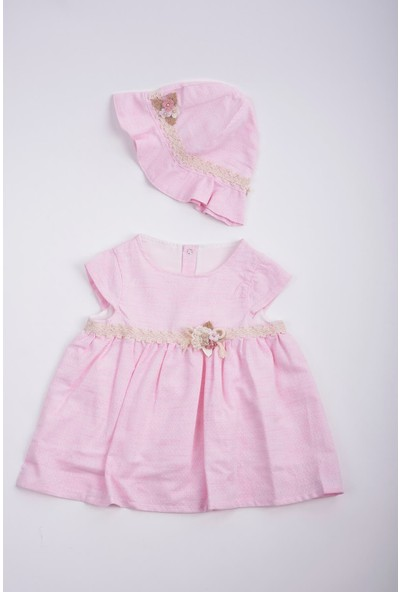 Capps Kız Bebek Kız Bebek Elbise Pembe