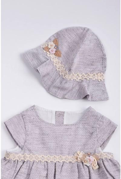 Capps Kız Bebek Kız Bebek Elbise Mor