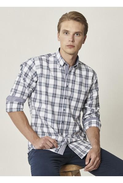 Altınyıldız Classics Regular Fit Düğmeli Yaka Kareli Gömlek