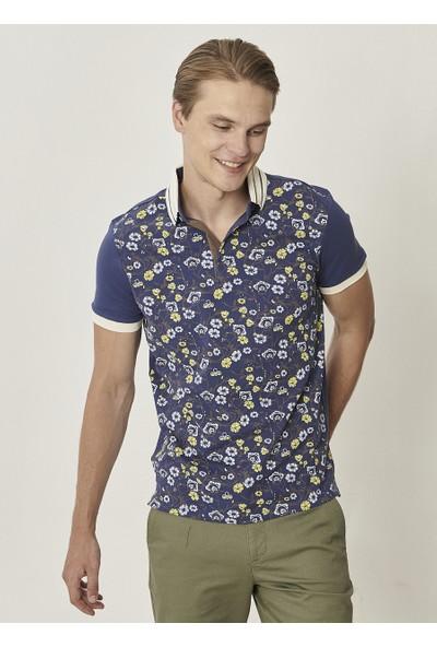 Altınyıldız Classics Polo Yaka Cepsiz Slim Fit Dar Kesim Koton Baskılı T-Shirt