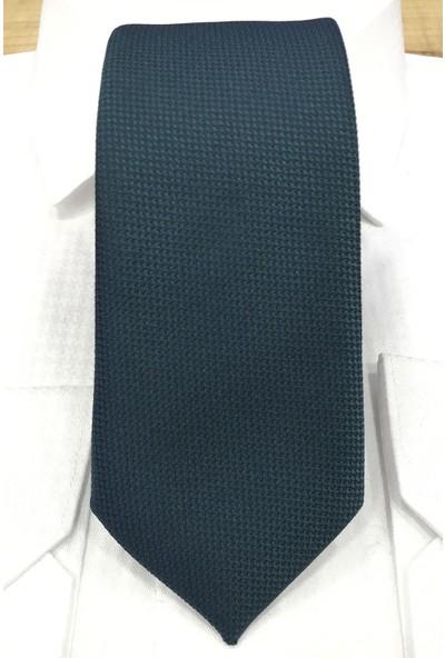 Quesste Armür Dokumalı Noktalı Mendilli Ince Kravat 6 cm
