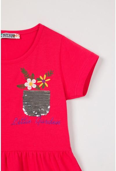 Paty Kids Kız Çocuk Nakışlı Elbise