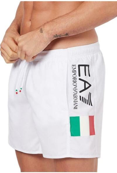 Emporio Armani Erkek Şort Mayo U004255 - Beyaz