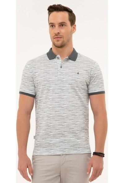 Pierre Cardin Erkek Koyu Gri Slim Fit Polo Yaka T-Shirt 50226619-VR080