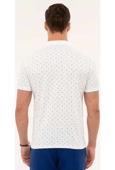 Pierre Cardin Erkek Lacivert Slim Fit Polo Yaka T-Shirt 50226620-VR033
