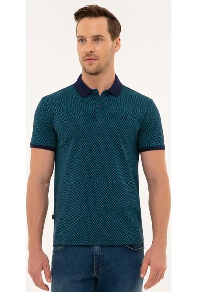 Pierre Cardin Erkek Lacivert Slim Fit Polo Yaka T-Shirt 50226909-VR033