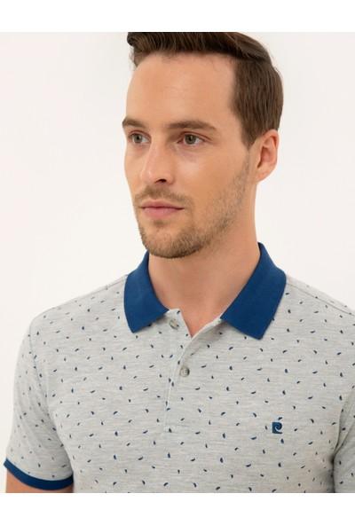 Pierre Cardin Erkek Açık Gri Melanj Slim Fit Polo Yaka T-Shirt 50226620-VR091