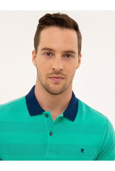Pierre Cardin Erkek Yeşil Slim Fit Polo Yaka T-Shirt 50226913-VR054