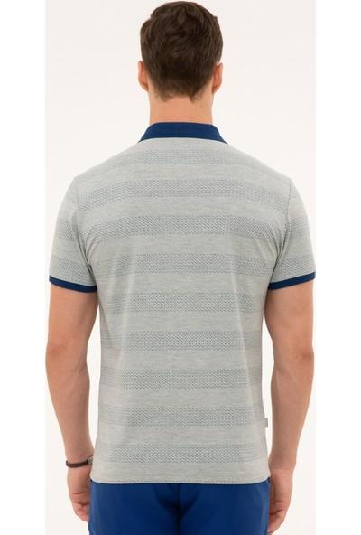 Pierre Cardin Erkek Gri Melanj Slim Fit Polo Yaka T-Shirt 50226913-VR086