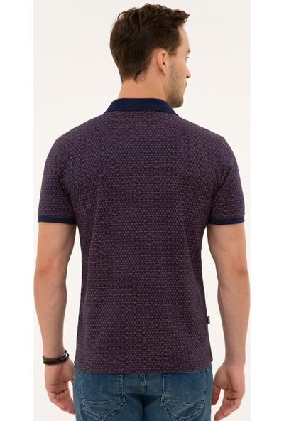 Pierre Cardin Erkek Lacivert Slim Fit Polo Yaka T-Shirt 50226641-VR033
