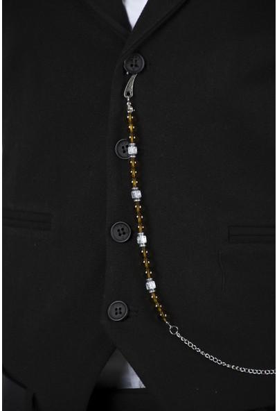 Deepsea Sarı Yakut Ve Opal Taşlı Cepken-Yelek Zinciri 2002034
