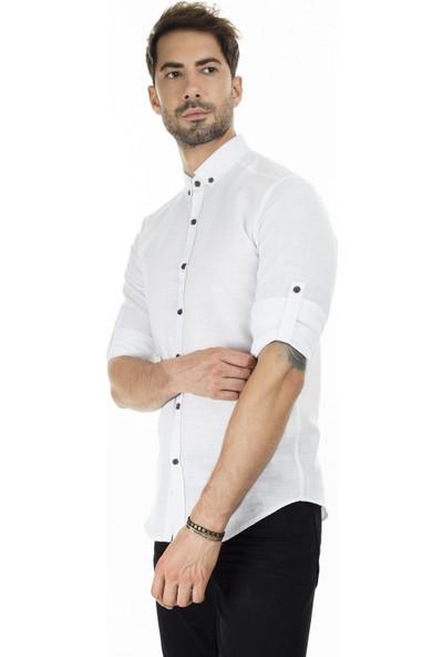Buratti Düğmeli Yaka Erkek Gömlek CF20S111871